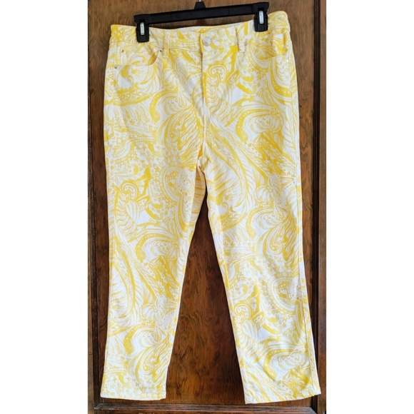 Chico's Pants - Chico's Platinum Crop, Daffodil Capri Jeans